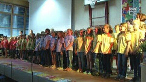 Eröffnung der Volksschule Vorderweißenbach