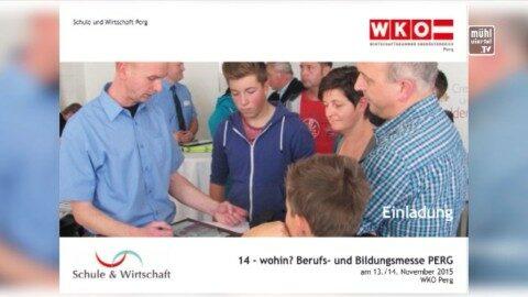 Ankündigung Berufs- und Bildungsmesse am 13. und 14. Nov. in er WKO Perg