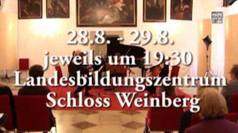 Ankündigung Kammermusikfest auf Schloss Weinberg