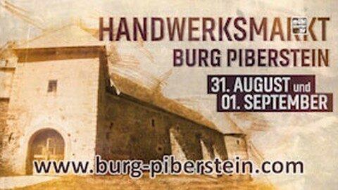 Ankündigung Kunsthandwerksmarkt auf der Burg Piberstein 2019