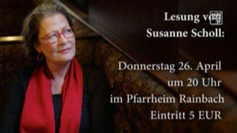 """Ankündigung: Lesung mit Susanne Scholl aus ihrem neuen Roman """"Wachtraum"""""""