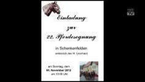 Ankündigung Pferdesegnung in Schenkenfelden