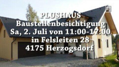 Ankündigung Tag der offenen Tür Plushaus in Herzogsdorf