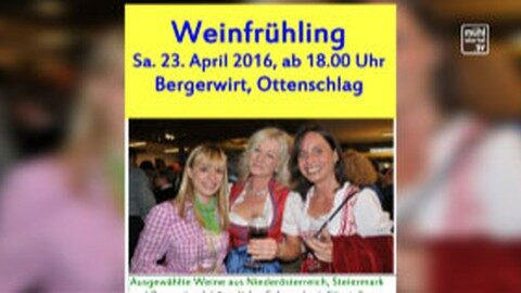 Ankündigung Weinfest der ÖVP Reichenau-Haibach-Ottenschlag