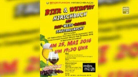 Ankündigung Bierfest in Hirschbach