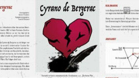 Ankündigung Burgfestspiele Reichenau – Cyrano de Bergerac – Stück für Erwachsene
