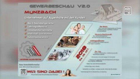 Ankündigung Gewerbemesse in Münzbach
