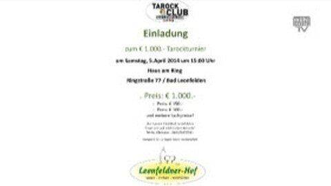 Ankündigung Tarockturnier in Bad Leonfelden