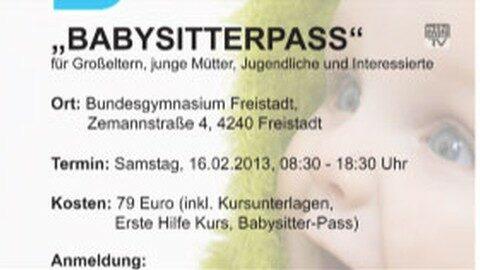 Ankündigung Babysitterkurs in Freistadt