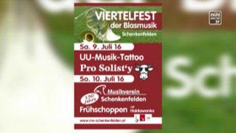 Ankündigung Viertelfest in Schenkenfelden