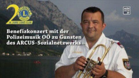 Ankündigung LIONS Konzert Polizeimusik im Centro Rohrbach