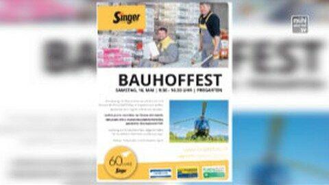 Ankündigung Bauhoffest der Baufirma Singer in Pregarten