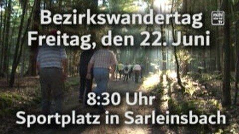 Ankündigung Senioren-Bezirkswandertag in Rohrbach 2018
