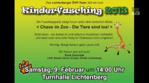 Ankündigung Kinderfasching in Lichtenberg
