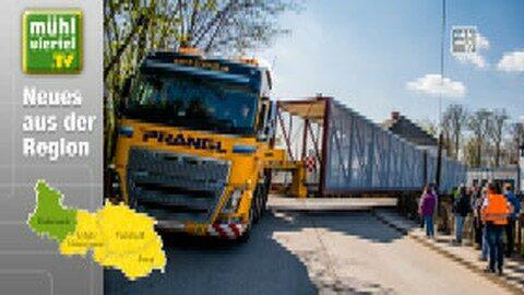 Brückenmontage erweist sich als Besuchermagnet