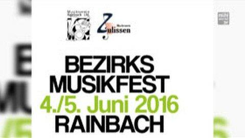 Ankündigung Bezirksmusikfest Freistadt in Rainbach am 4.5.2016