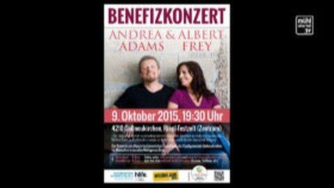 Ankündigung Benefizkonzert Ehepaar Frey in Gallneukirchen am 9.10.2015