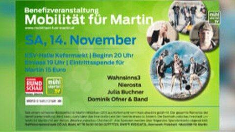 """Ankündigungen Benefizkonzert in Kefermarkt """"Mobilität für Martin"""""""