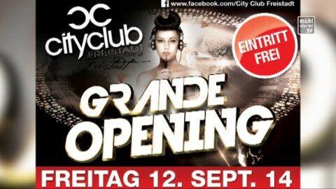 Ankündigung Eröffnung City Club Freistadt