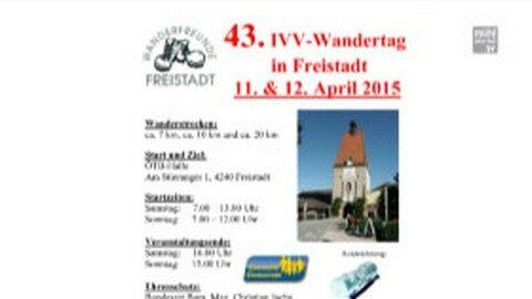 Ankündigung: IVV Wandertag in Freistadt