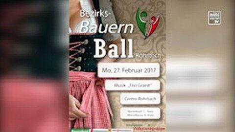 Ankündigung Bezirksbauernball in Rohrbach