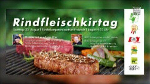 Ankündigung Rindfleischkirtag beim RZO-Gebäude Freistadt