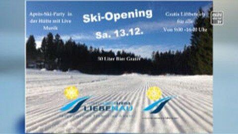 Ankündigung Ski-Opening in Liebenau 2014