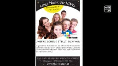"""Ankündigung """"Lange Nacht der HLWs"""" in Freistadt"""