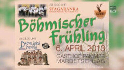 Ankündigung: Böhmischer Frühling im Gasthaus Pammer in Mardetschlag