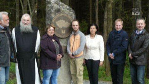 Südlichster Punkt Tschechiens mit Stein markiert