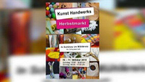 Ankündigung Kunsthandwerks Herbstmarkt