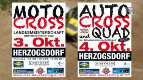 Ankündigung Autocross und Quad Staatsmeisterschaften in Herzogsdorf