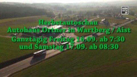 Ankündigung Herbstautoschau beim Autohaus Ortner in Wartberg ob der Aist