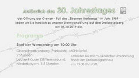 Ankündigung Sternwanderung auf den Dreisesselberg