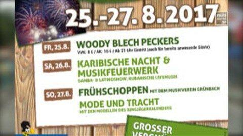 Ankündigung Grünbacher Dorffest 25.-27.8.2017