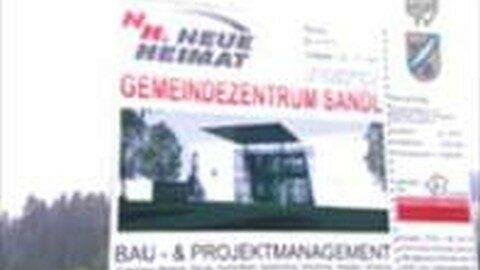 Spatenstich Gemeindezentrum Sandl