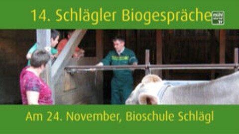 Ankündigung Biogespräch in der Bioschule Schlägl