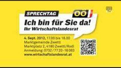 Sprechtag mit unserem Wirtschaftslandesrat in Zwettl am 4.09.2012