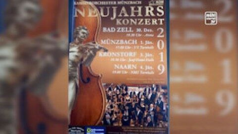 Ankündigung Konzert zum Jahresausklang in Bad Zell