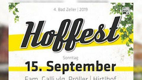 Ankündigung Hoffest in Bad Zell