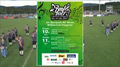 Ankündigung Bezirksmusikfest in Pregarten
