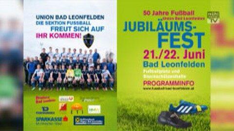 Ankündigung 50 Jahre Fußball Union Bad Leonfelden