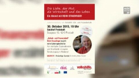 Ankündigung Heini Staudinger im Salzhof Freistadt