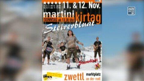 Ankündigung Martini-Kirtag in Zwettl an der Rodl