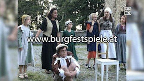 Ankündigung Burgfestspiele Reichenau – Kinderstück + Erwachsenenstück
