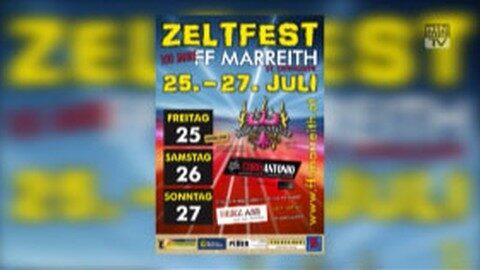 Ankündigung Zeltfest FF Marreith