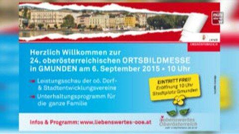 Ankündigung Ortsbildmesse in Gmunden