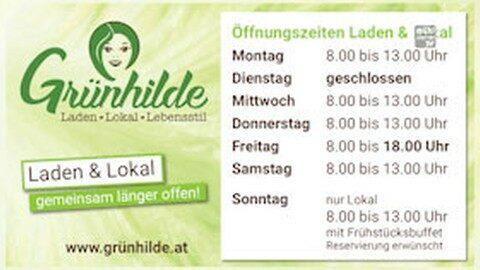 Neue Öffnungszeiten bei Grünhilde in Tragwein!