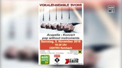 """Ankündigung A-Capella Konzert von """"5 vor 5"""" im Centro Rohrbach"""