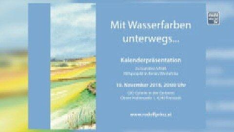 Ankündigung Kalenderpräsentation von Rudolf Prinz